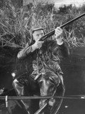 Actor Van Johnson Duck Hunting in a Scene from the Movie &quot;Early to Bed&quot;