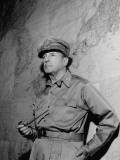 General Douglas Macarthur Standing in Front of Map of the Philippines at Manila City Hall