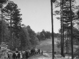 Crowd Watching Golfer Byron Nelson Make a 240 Yard Drive During a Golf Tournament