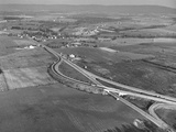 An Aerial View Showing the Pennsylvania Turnpike