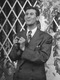 "Comedian Doodles Weaver Doing a Routine on Set of ""Hour Glass"" Program"