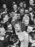 Goldwyn Girls Mingling with Navy Officers