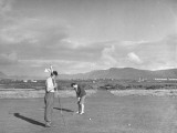 A View of People Playing a Game of Golf