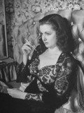 "Actress Joan Bennett Performing in Scene from the Movie ""Scarlet Street"""