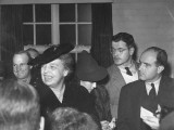 Eleanor Roosevelt Holding a Press Conference