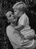 Actress Alida Valli with Her Son