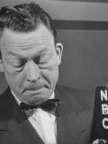 Comedian Fred Allen Thinking During Broadcast