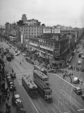 A View Showing the Overflowing Crowds on Market Street the Day before Christmas