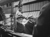 President Franklin Roosevelt Riding with Admiral H F Leary