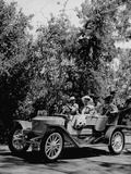 Actor Mickey Rooney Driving Car in Scene from Motion Picture &quot;Summer Holiday&quot;
