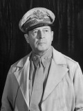 General Douglas Macarthur  Posing Seriously for His Portrait
