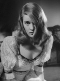 Actress Nancy Guild Imitating Actress Veronica Lake for a Screen Test