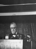 President Franklin D Roosevelt Delivering His Navy Day Speech