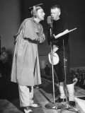 Bandleader Kay Kyser Performing at Naval Training Station