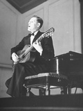 An Unidentified Musician Performing at a Concert