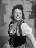 Opera Singer Martha Lipton Posing in Costume