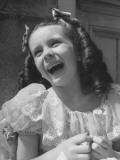 "Child Film Actress Margaret O'Brien Wearing ""Jane Eyre"" Costume on Set"
