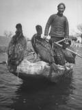 Fisherman Posing with His Comorants  Fishing Birds