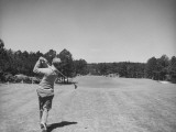 Golfer Jimmy Hines in Action During a Tournament