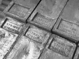 Tin Ingots That are Part of US Strategic Materials Stockpile  are Stored in a US Army Warehouse