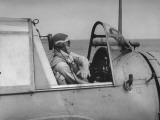 Lieutenant Charles Dodds  US Navy Pilot  Signaling Readiness for Takeoff