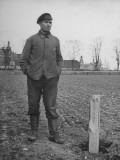 A Silesian Farmer Standing by the Line of Stakes That Mark Out the Five Hectares of Arable Land