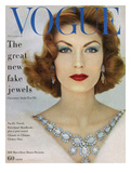 Vogue Cover - November 1957 - Blue Jewels