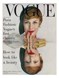 Vogue Cover - September 1957 - Mirrored Beauty