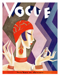 Vogue Cover - July 1926 - Fashion Zig Zag Reproduction d'art par Eduardo Garcia Benito