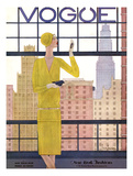 Vogue Cover - May 1928 - City View Reproduction d'art par Georges Lepape