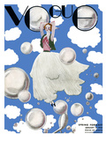 Vogue Cover - January 1932 - Clouds and Bubbles Reproduction d'art par Georges Lepape
