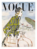 Vogue Cover - January 1947 - Travel Fashion