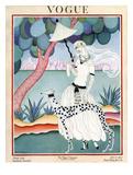 Vogue Cover - January 1922 - Dalmation Walk Giclee par Helen Dryden
