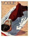 Vogue Cover - July 1933 - Beach Siesta Giclee par Pierre Mourgue