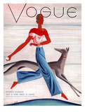 Vogue Cover - July 1930 Reproduction d'art par Eduardo Garcia Benito