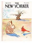 The New Yorker Cover - January 18  1982