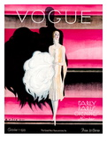 Vogue Cover - October 1925 - Paris Revue Reproduction d'art par William Bolin