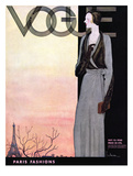 Vogue Cover - October 1930 Reproduction d'art par Georges Lepape