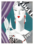 Vogue Cover - October 1926 - Petit Eiffel Tower