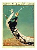 Vogue Cover - April 1918 - Peacock Parade Giclee par George Wolfe Plank