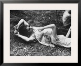 Young Couple Relaxing During Woodstock Music Festival