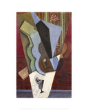 Abstraction (Guitar and Glass)  July 1913
