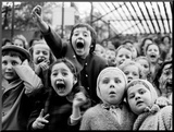 Children at a Puppet Theatre  Paris  1963