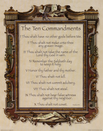 the ten commandments print