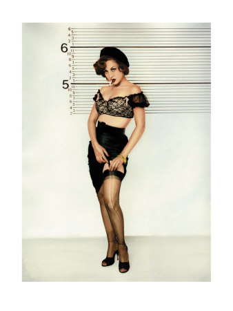 pin up photos. Pin-Up Girl: Police Line Up