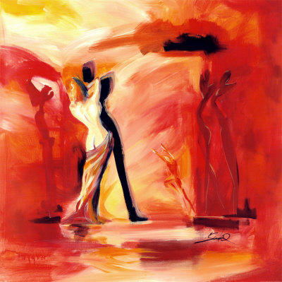 Romance in Red II Print by
