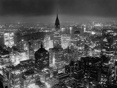 View of Manhattan from RCA Building Stretched Canvas Print