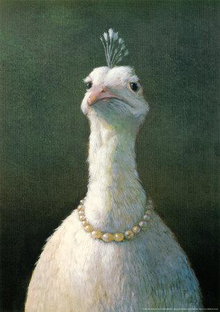 Fowl with Pearls Michael Sowa Art Print