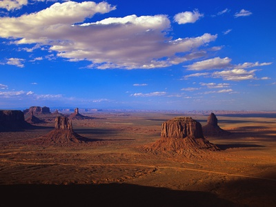 Aerial View of Monument Valley Stretched Canvas Print