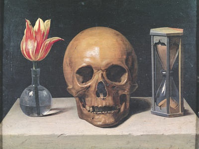 Hamlet Skull Painting